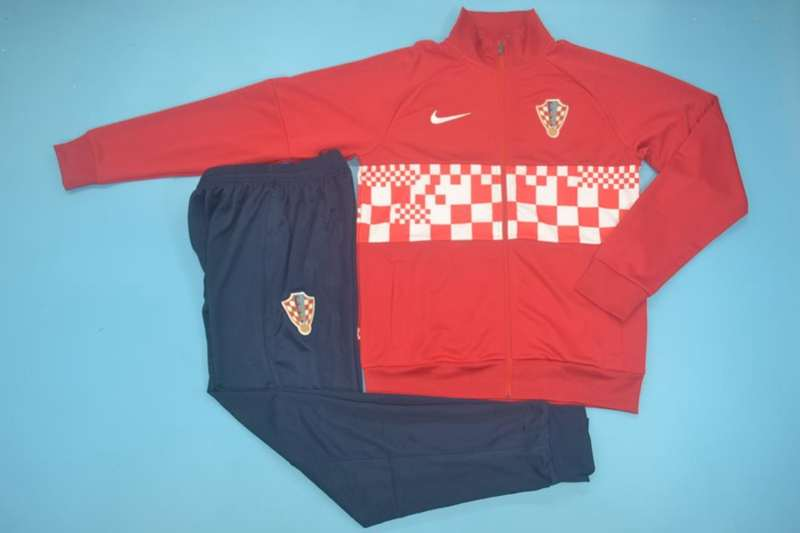 AAA Quality Croatia 2020 Red Soccer Tracksuit